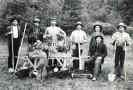 Gärtner der Familie Engels, zuständig für Parkanlagen und Nutzgarten der Fabrikantenfamilie in Engelskirchen, 1893  © Archiv Ermen & Engels
