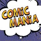 Eine große Sprechwolke mit der Inschrift: Comic Mania.