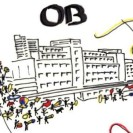 Skizze des Peter-Behrens-Bau in Oberhausen