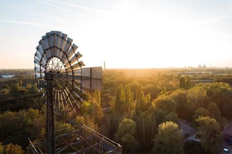 Blick in den Landschaftspark Nord in Duisburg.