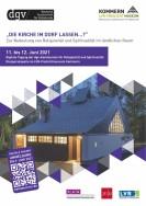 Grafik: Werbeplakat zur Konferenz mit einem Blick auf die Diasporakapelle.