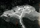 Foto: Luftbild des Museums von 1971 in schwarz-weiss