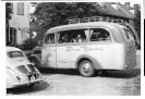 Foto: Schwarz-weiss, altes Auto